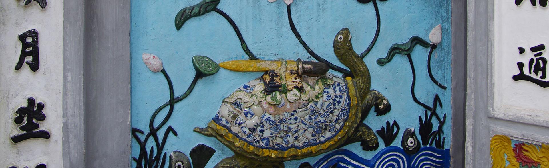 Die uralte Schildkröte Cu Rua